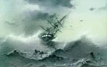 Тонущий корабль. 1854