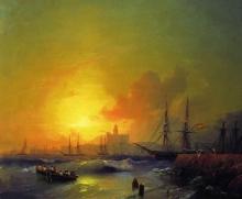 Малага. Морской пейзаж. 1854