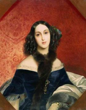 Портрет М. А. Бек, Брюллов, 1840