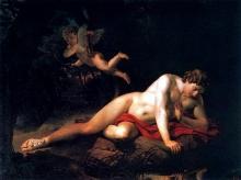 """Картина """"Нарцисс"""", Брюллов, 1819"""