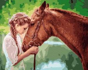 Юная девица с лошадью