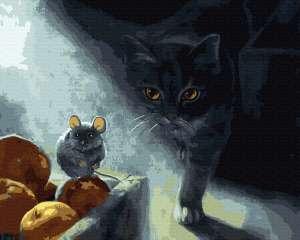Кот-охотник в тени