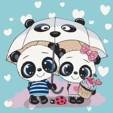 Пандочки под зонтиком