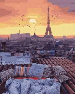 Закат с видом на Париж