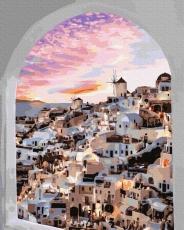 Окно в Санторини