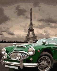 Зеленый ретро на улицах Парижа