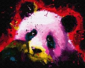 Панда в красках