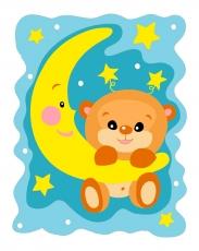 Мишка на Луне