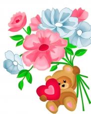Медвежонок с цветами