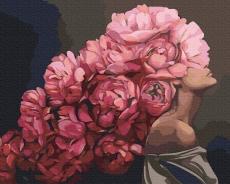 """Картина для росписи по номерам """"Розовые мысли. Эми Джадд"""" 40 х 50 см ATG0015"""