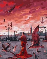 """Картина для росписи по номерам """"Закат на набережной"""" 40 х 50 см ATG0018"""
