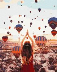 """Картина для росписи по номерам """"Воздушные шары"""" 40 х 50 см ATG0021"""