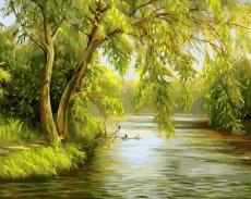 Ива над рекой