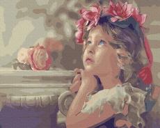 """Картина для росписи по номерам """"Все дети - ангелы"""" 40 х 50 см BK-GX31006"""
