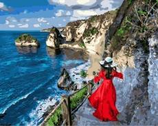 "Картина для росписи по номерам ""Девушка на алмазном пляже"" 40 х 50 см BK-GX38166"
