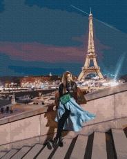 """Картина для росписи по номерам """"Вечерний Париж"""" 40 х 50 см BK-GX38223"""