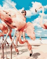 """Картина для росписи по номерам """"Фламинго"""" 40 х 50 см BK-GX38393"""