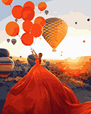 "Картина для росписи по номерам ""Каппадокия на закате"" 40 х 50 см BK-GX40114"