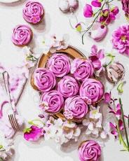 """Картина для росписи по номерам """"Цветочный завтрак"""" 40 х 50 см BRM37316"""