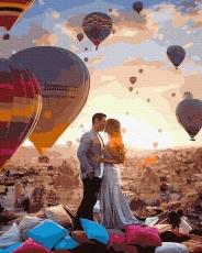"""Картина для росписи по номерам """"Поцелуй в Кападокии"""" 40 х 50 см BRM39291"""