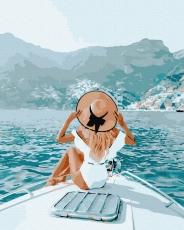 """Картина для росписи по номерам """"Морская прогулка"""" 40 х 50 см BRM39512"""