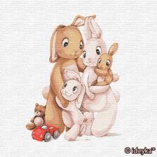 Маленькая семья кроликов