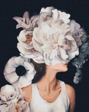 """Картина для росписи по номерам """"Девушка с цветущими мыслями"""" 40 х 50 см PGX36769"""