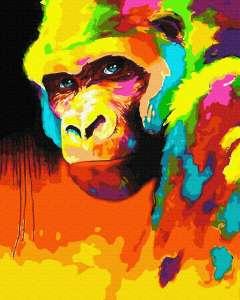 Орангутанг в красках