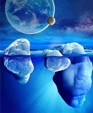 Айсберги в океане