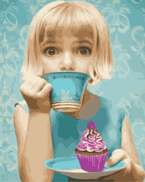 Девочка с пироженым