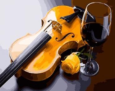 Бокал и скрипка