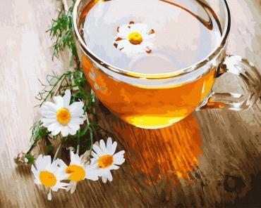 """Картина для росписи по номерам """"Ромашковый чай"""" 40 х 50 см BRM22026"""