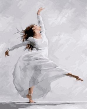 "Картина для росписи по номерам ""Танцующая балерина"" 40 х 50 см BRM23653"