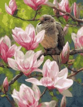 """Картина для росписи по номерам """"Птицы и цветы"""" 40 х 50 см BRM24986"""