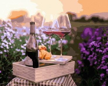 "Картина для росписи по номерам ""Вино в цветах"" 40 х 50 см BRM32336"