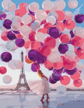 """Картина для росписи по номерам """"Девушка с шариками"""" 40 х 50 см BRM36635"""