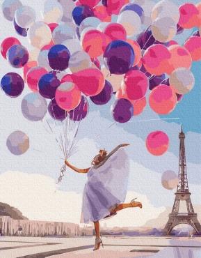 """Картина для росписи по номерам """"Яркий Париж"""" 40 х 50 см BRM36636"""