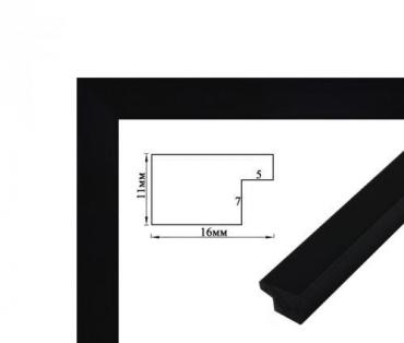 Багетная рамка (черная 2 см) 40х50